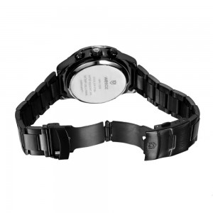 Weide Dual Time LED Sport Watch (1008) Black White