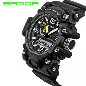 SANDA 732 Waterproof Sports Men's Shockproof Digital Watch (Full Black)