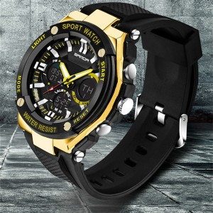 SANDA 733 Waterproof Sports Men's Shockproof Digital Watch (Gold)