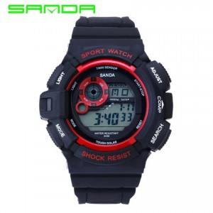 SANDA Waterproof Men's Sports Digital Watch