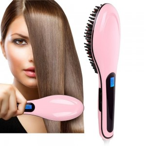 Fast Hair Comb Straightener Hair Comb Brush With Lcd Display Hqt-906