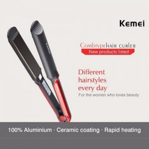 Kemei Km531 Professional Ceramic Hair Straightener For Wet And Dry Hair