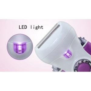 4 In 1 Hs3066 Ladies Rechargeable Epilator & Shaver Electric Hair Removal Electric Shaver (Purple)