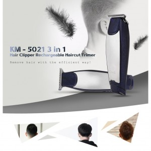 Kemei KM5021 Professional Rechargeable Hair Trimmers Clipper Haircut Barber