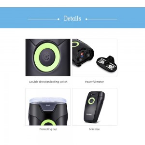 Kemei KM-202A Portable Electric Dual Floating Blade Shaving Razor Shaver Beards Removal Hair Shaver Hair Removal