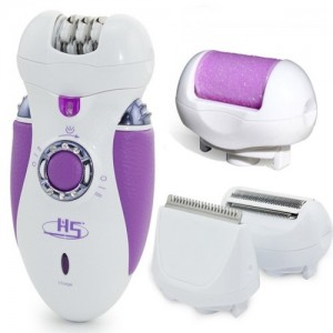 HS 3066D 4 in 1 Ladies Rechargeable Electric Epilator And Shaver