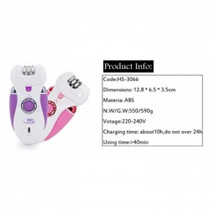 Rechargeable Shaver + Electronic Callus Remover (Purple+Blue)