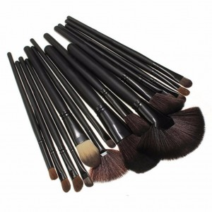 Professional Cosmetic Makeup Brush Set 24 Pcs With Pouch Bag (Black)