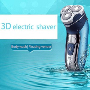 Kemei KM7390 Rechargeable Electric Washable Shaver Razor For Men