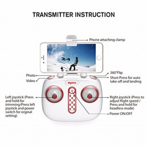 SYMA X8SW FVP Real-Time 4 Channel W/ 720P WIFI camera Remote Control Quadcopter