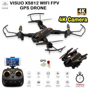 Visuo XS812G 4K Ultra HD Camera WIFI FPV GPS Drones HD camera Gesture Shooting Selfie Drone Remote Control Quadcopter