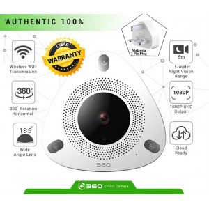 360 Mini IP Camera D688 Wifi 1080P Full HD Wireless 360° Rotation Fisheye CCTV Camera