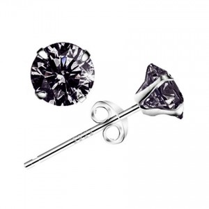 Youniq Basic Cz 925 Sterling Silver Earrings Set- 3 Pairs In 1 Set