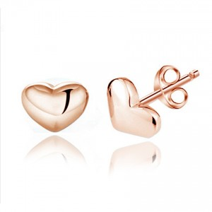 Youniq Basic Cz Pearl 925 Sterling Silver Earrings Set- 3 In 1 Set (Rosegold)