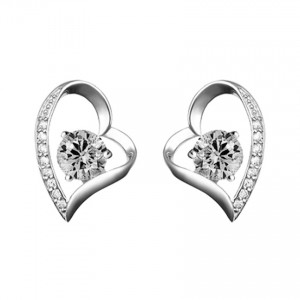 Youniq Lovey Cz White 925 Sterling Silver Earrings