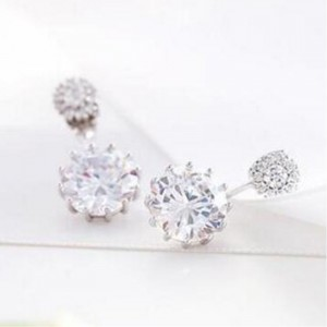 Youniq Basic Korean Twin Cz Earring