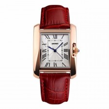 SKMEI 1085 Ladies's Classic Rectangle Dial Leather Watch