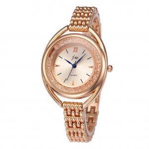 JW Glam Crystal Steel Quartz Wristwatch Fashion Women's Bracelet Watch