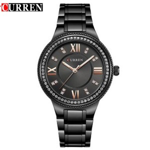 Curren 9004 Dazzling Roman Women Dial Stainless Steel Strap Quartz Watch