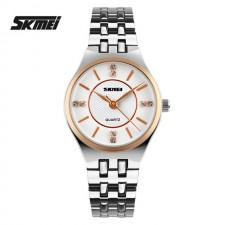 SKMEI 1133 Ladies's Luxury Rhinestone Quartz Steel Watch