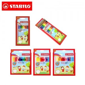Kids Sports Portable Basketball Toy Set + STABILO Swans Colored Pencils