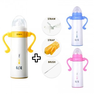 Baby Thermal Auto Warmer Milk Bottle Glass Thermos Vacuum Flask