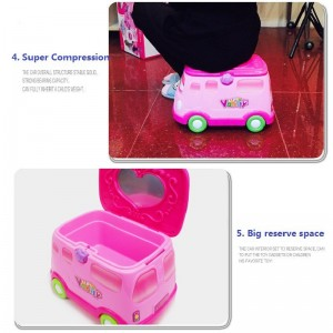 Vanity Vehicle 2 in 1 Playset Dressing Table Car Pretend Play for Kids Dress Up