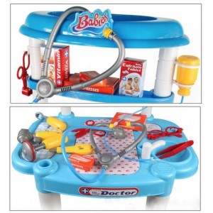 Little Doctors Pretend Role Play Hospitcal Medical Table Playset Educational Game Toy