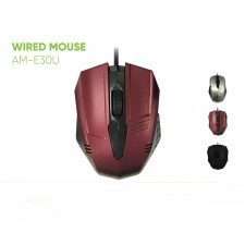 AVF 3D WIRED OPTICAL MOUSE USB 1600DPI AM-E30U TETIKUS