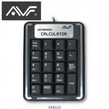AVF USB Numeric Keypad AKB115 WITH 19 KEYS CASHIER CALCULATOR KEYBOARD POS SYSTEM