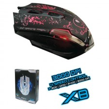 AVF X8 GAMING FREAK ii 6D WIRED LASER MOUSE 3000DPI AGM-X8 USB PC CPU COMPUTER