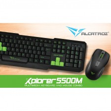 Alcatroz Xplorer 5500M Multimedia Keyboard and Mouse Combo