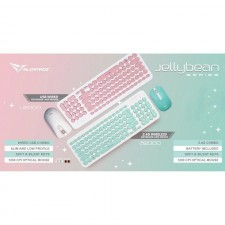 ALCATROZ JELLYBEAN U2000 USB WIRED KEYBOARD & MOUSE COMBO FOR DESKTOP PC