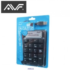 AVF USB NUMERIC KEYPAD AKB111 CASHIER CALCULATOR KEYBOARD POS SYSTEM