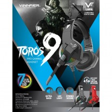 VINNFIER Toros 9 Pro Gaming Headset Designed For Gamer with LED Light