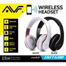 AVF HBT600 Bluetooth Hands-free Stereo Wireless Headset Headband Headphone with Microphone