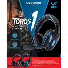 VINNFIER TOROS 1 Gaming Headphone Extra Bass and Stereo Sound for Mobile and Desktop