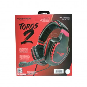 TOROS 2 PRO GAMING HEADSET VINNFIER high quality audio Headphone Extra Bass and Stereo Sound ps4 compatible