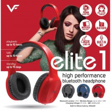 Vinnfier Elite 1 Wireless 5.0 Bluetooth Headset Clear Audio Headphones With Mic For Smartphones and Tablets