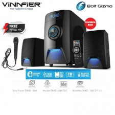 VINNFIER Champ 101BTRM, Bluetooth Speaker, Karaoke System, FM Radio, USB/SD slot
