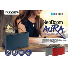 VINNFIER Neo Boom Aura Wireless Bluetooth portable speaker with USB Drive , Micro SD slot and FM Radio