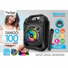 Vinnfier Flipgear Tango 100WM Bluetooth Portable Karaoke Speaker with Wireless Microphone