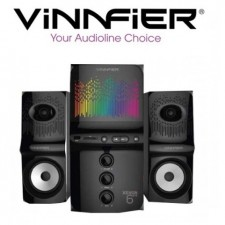 VINNFIER Xenon 6BTR RGB 2.1 Speaker Built in Bluetooth,Radio,USB,SD Card Slot