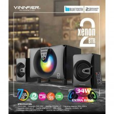 VINNFIER XENON 2 BTR 2.1 SPEAKER - BT, FM, USB/SD slot and Karaoke function ( 24W )
