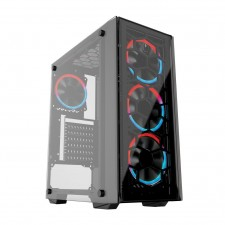 GAMING FREAK S95G NEBULA PREMIUM MIDDLE TOWER CASE WITH TEMPERED GLASS CPU PC DESKTOP CHASSIS CASING