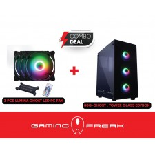 AVF GAMING FREAK 80G GHOST TEMPER GLASS TOWER FANS & RGB CONTROL INCLUDE CPU DESKTOP CASE CHASSIS CASING