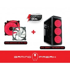 AVF Gaming Freak The Druid Max PC Desktop Cpu Gaming Casing Chassis Case With 3 pcs Fans Included GFG-DRMX1