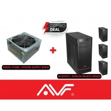 AVF SHIELDO BLACK SERIES ACSD573 CHASSIS WITH 500w POWER SUPPLY DESKTOP DESKTOP COMPUTER CASING CASE