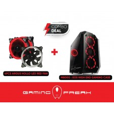 AVF GAMING FREAK EOS M800G HIGH END GAMING CASE WITH 4PCS HOLLO RED LED Ring Fan included CHASSIS CASING