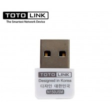 TOTOLINK N150USM Wireless N150 Nano Mini Size USB WiFi Adapter for Desktop / Laptop 150Mbps
